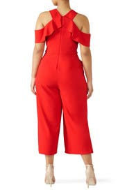 Cross Front Ruffle Jumpsuit by Slate & Willow
