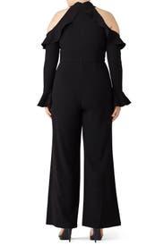 Black Cold Jumpsuit by ML Monique Lhuillier