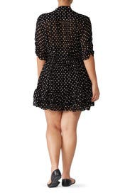 Polka Dot Ruffle Mini Dress by Nicholas