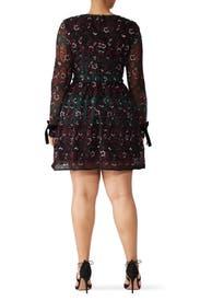 Vine Embroidered Dress by ML Monique Lhuillier
