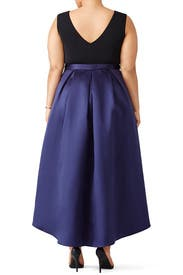 Colorblock High Low Dress by Hutch