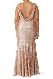 Rose Gold Gemma Gown by Theia
