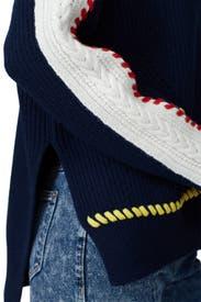 Color Stitched Turtleneck by SJYP