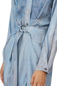Blue Printed Silk Dress by Colovos