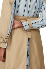 Striped Camel Trench Coat by Thakoon Collective
