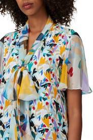 Tie Neck Flutter Sleeve Top by Prabal Gurung