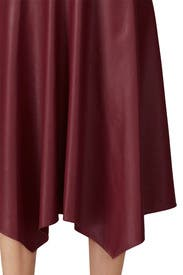 Malbec Vegan Leather Skirt by Rebecca Taylor