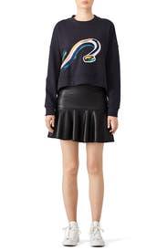 Taylor Crop Sweatshirt by Tibi