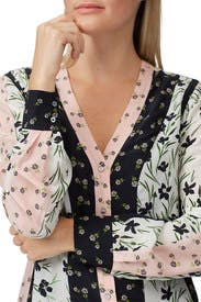 Tulip Ditzy Button Down Dress by Nicole Miller