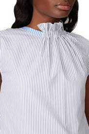 Mixed Striped Roundneck Top by TEIJA