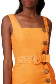 Button Pinafore Dress by Nicholas