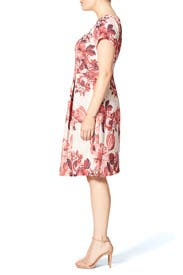 Contrast Jacquard Dress by Adrianna Papell