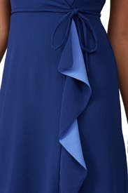Blue A-Line Wrap Dress by Adrianna Papell