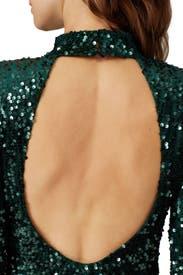 Green Velvet Sequin Sheath by Donna Morgan