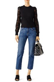 Black Lace Sweater by Rebecca Taylor