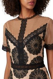 Pinwheel Embroidered Dress by Nightcap