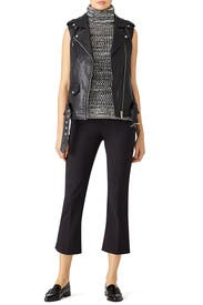 Black Mixed Knit Top by Derek Lam 10 Crosby