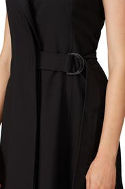 Black Belted Midi Dress by Jason Wu Collective