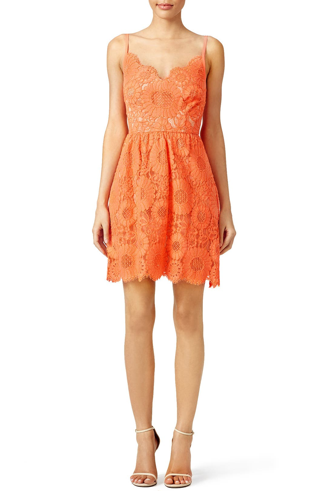 Trina Turk Orange Alcott Dress