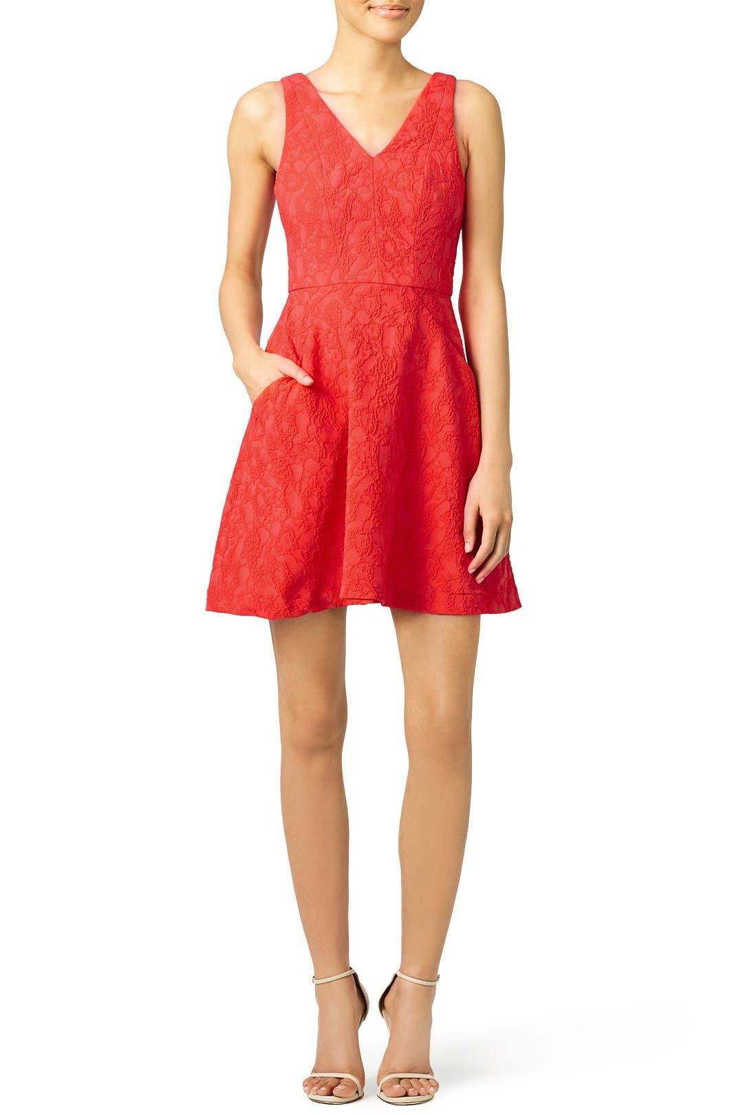 Slate & Willow Red Taliya Dress