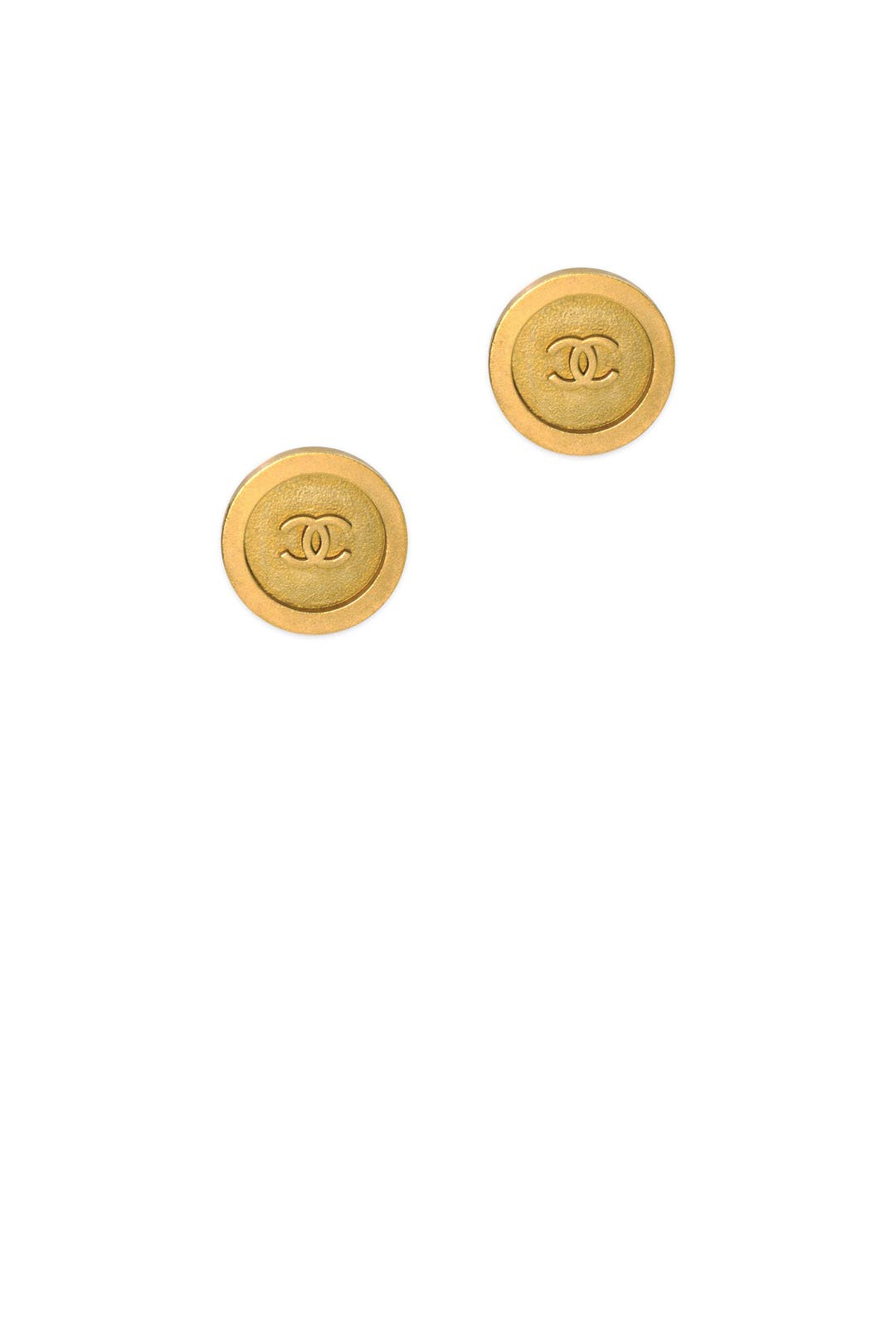 858d6148caa2 Vintage Chanel Round CC Earring by Decades Vintage for $100 | Rent the  Runway