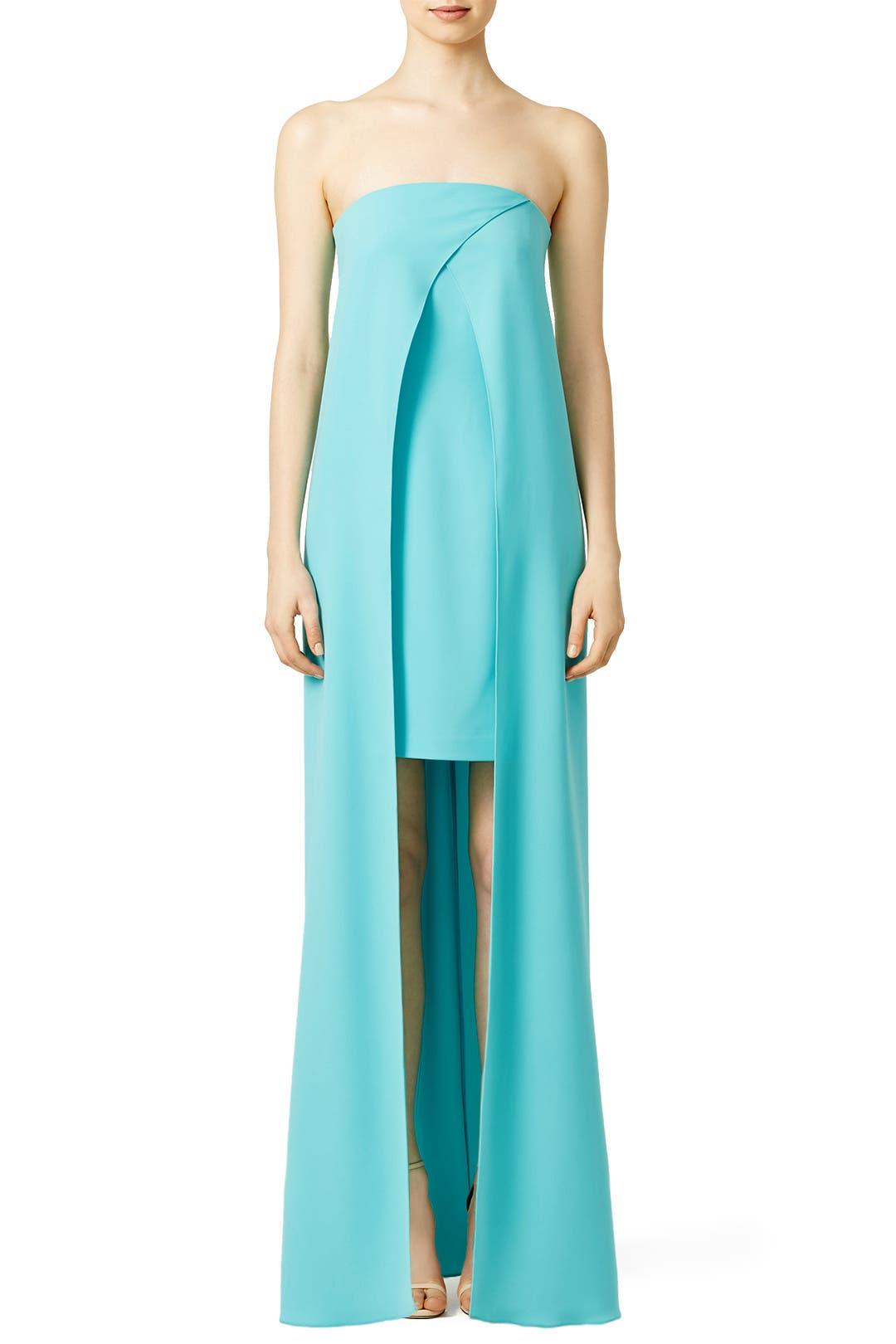 Slate & Willow Aqua Font Gown