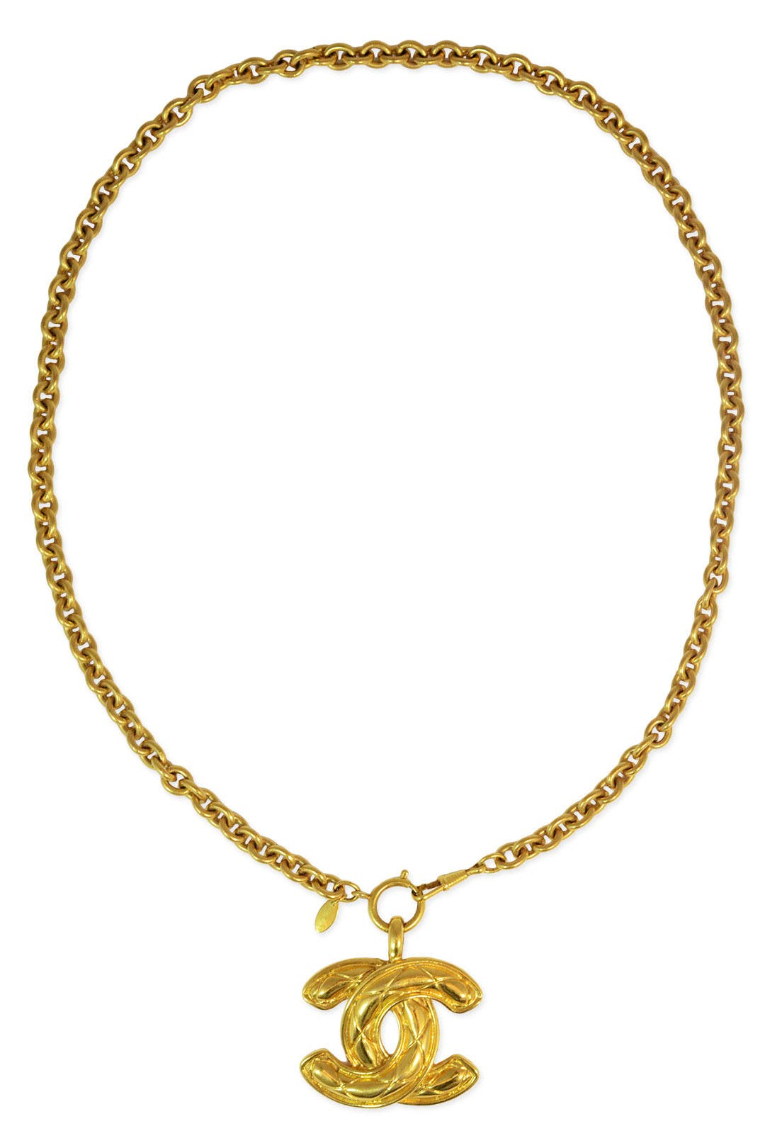 02116fcc049e Vintage Chanel CC Pendant Necklace by WGACA Vintage for $200   Rent the  Runway