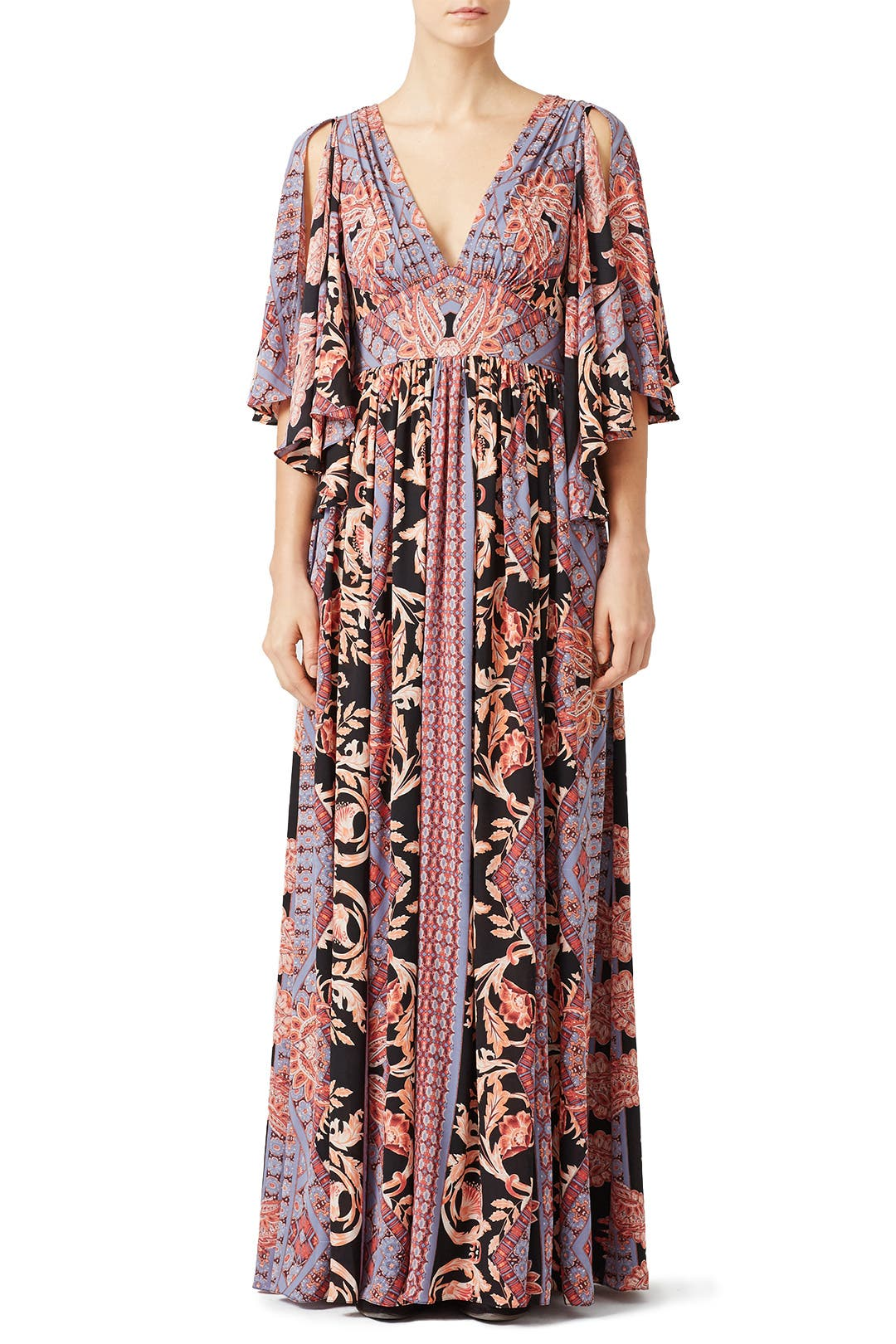 Free People Printed Fern Maxi Party Dress