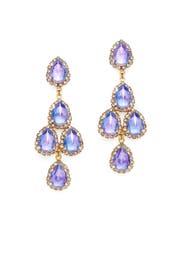 Periwinkle Duchess Earrings by Erickson Beamon