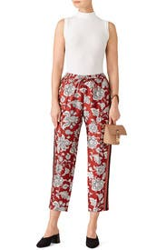 Tapered Print Pants by Scotch & Soda