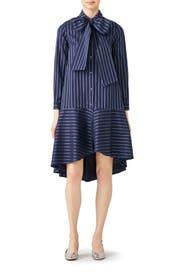 Amelia Stripe Dress by Osman