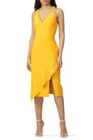 Yellow Sheath Dress by Harlyn