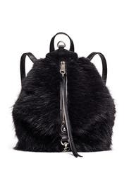 Faux Fur Mini Julian Backpack by Rebecca Minkoff Accessories