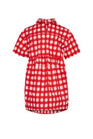 Girls Collared Gingham Dress by Marni Kids