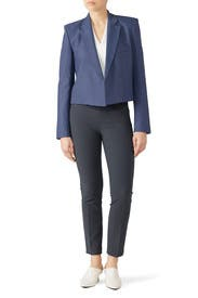 Linen Cropped Jacket by Tibi