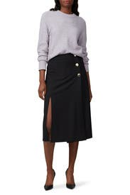 Side Slit Twill Skirt by kate spade new york