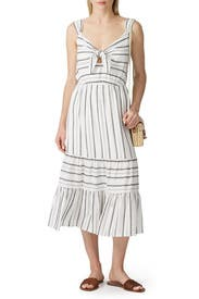 Striped Tiered Midi Dress by Slate & Willow