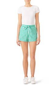 Dolly Check Tie Shorts by Draper James