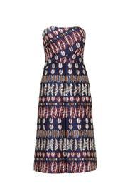 Metallic Jacquard Dress by Tory Burch