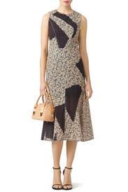 Geo Patchwork Dress by Cedric Charlier