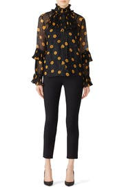 Sheer Pop Bouquet Top by Anna Sui