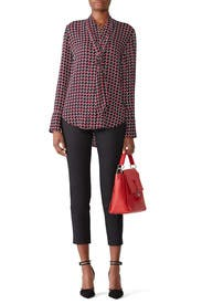 Houndstooth Luis Top by Equipment