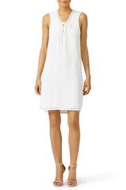 White Grommet Laces Dress by Derek Lam 10 Crosby