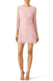 Pink Macrame Lace Dress by Giambattista Valli