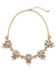 Crystal Floral Statement Necklace by Slate & Willow Accessories
