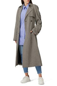 Button Trench Coat by Rokh