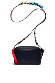 Navy Circle Mini Crossbody by Anya Hindmarch