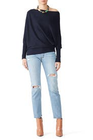 Navy Dash Sweater by Wish