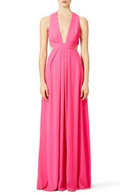 Pink Crossback Gown by Jill Jill Stuart