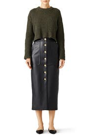 Green Cropped Sweater by Tibi